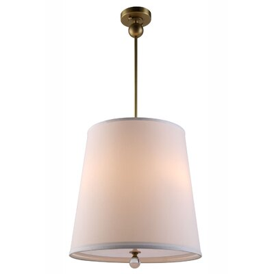 Vicenta 3-Light Drum Pendant Finish: Burnished Brass