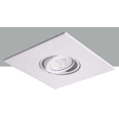 Square Adjustable Spot 4 LED Recessed Trim