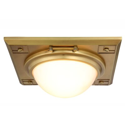 Fealty 2-Light Flush Mount Finish: Burnished Brass