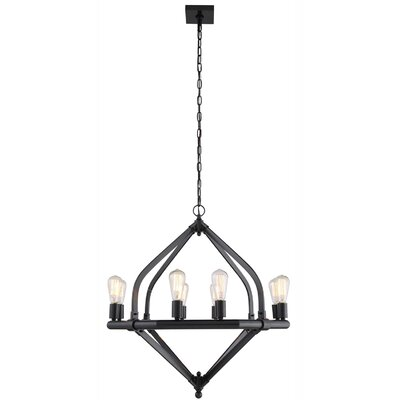 Stansfield 8-Light Candle-Style Chandelier Finish: Polished Nickel