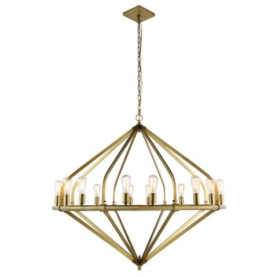 Stansfield 16-Light Candle-Style Chandelier Finish: Burnished Brass