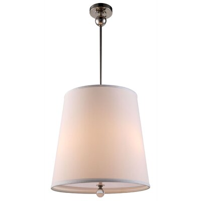 Afton 3-Light Drum Pendant Finish: Bronze