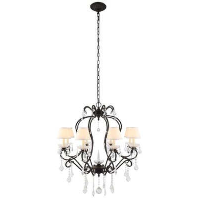 Diana 8-Light Shaded Chandelier Finish: Golden Iron