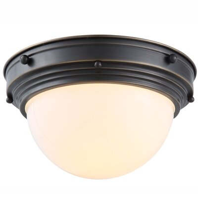 Aarav 1-Light Flush Mount Finish: Bronze
