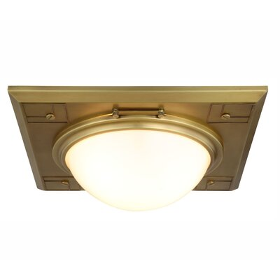 Fealty 3-Light Flush Mount Finish: Bronze