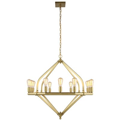 Stansfield 12-Light Candle-Style Chandelier Finish: Polished Nickel