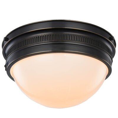 Tripoli 2-Light Flush Mount Finish: Bronze