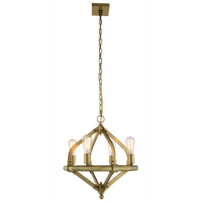 Stansfield 4-Light Candle-Style Chandelier Finish: Burnished Brass