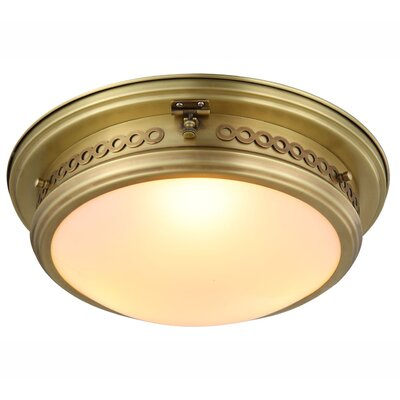 Allenhurst 3-Light Flush Mount Finish: Burnished Brass