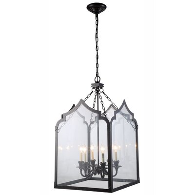Boonton Contemporary 6-Light Foyer Pendant Finish: Polished Nickel