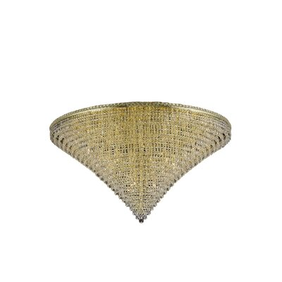 Fulham 48-Light Crystal Flush Mount Finish: Gold, Crystal Grade: Spectra Swarovski