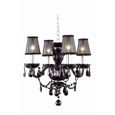 Rochelle Traditional 4-Light Shaded Chandelier