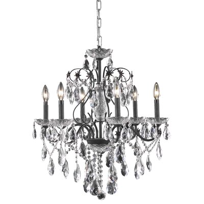 Thao Traditional 6-Light Chain Crystal Chandelier Crystal Grade: Elegant Cut