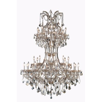 Regina 36-Light Royal Cut Crystal Chandelier