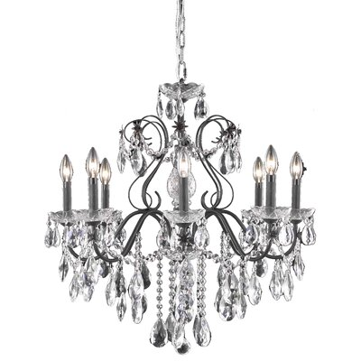 Thao 6-Light Chain Crystal Chandelier Crystal Grade: Elegant Cut
