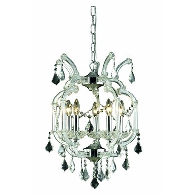 Maria Theresa 5-Light Crystal Chandelier Crystal Grade: Spectra Swarovski, Finish: Gold