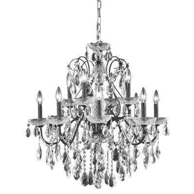 Thao 12-Light Chain Crystal Chandelier Crystal Grade: elegant Cut