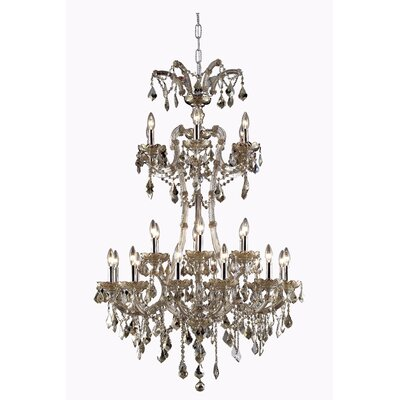 Regina Traditional 24-Light Royal Cut Crystal Chandelier