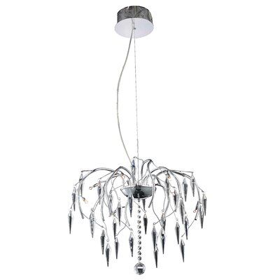 Rana 8-Light Crystal Pendant
