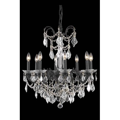 Cherie 8-Light Crystal Chandelier Crystal Grade: Royal Cut, Finish: Pewter