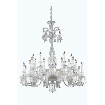 Leonardo Traditional 24-Light Crystal Chandelier