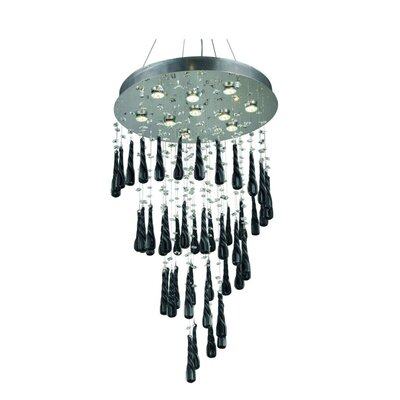 Lampsacus 10-Light Crystal Chandelier Size: 72 H x 24 W x 24 D, Crystal Color: White