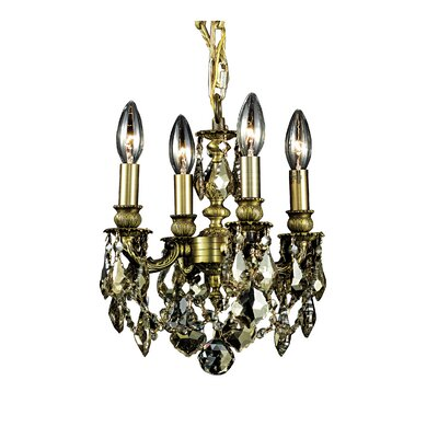 Ranae 4-Light Candle-Style Chandelier Finish: Antique Bronze