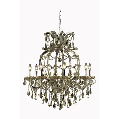 Regina 8-Light Swarovski Elements Crystal Chandelier