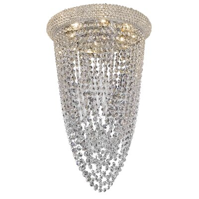 Reiban 6-Light Flush Mount Finish: Chrome, Crystal Grade: Elegant Cut