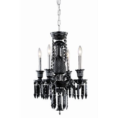 Leonardo 4-Light Crystal Chandelier Finish: Golden Teak