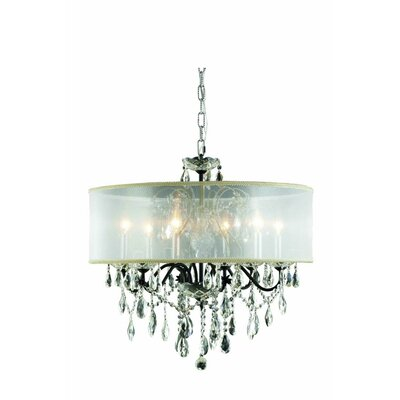 St. Francis 6-Light Drum Chandelier Crystal Grade: Spectra Swarovski, Finish: Dark Bronze
