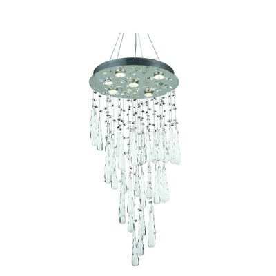 Hensler 6-Light Crystal Chandelier Crystal Color: Black