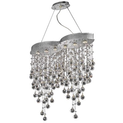 Pellerin 6-Light Crystal Pendant Crystal: Swarovski Strass