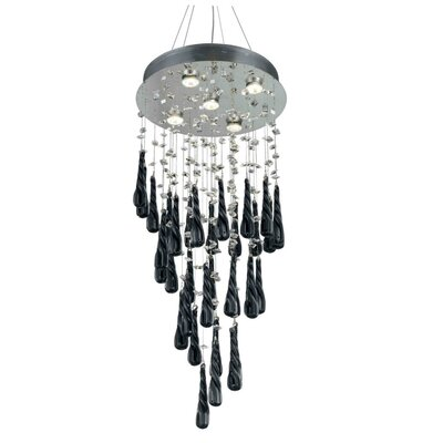 Hensler 5-Light Wire Crystal Chandelier Crystal Color: White
