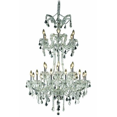 Regina Traditional 24-Light Crystal Chandelier Finish: Chrome, Crystal Grade: Royal Cut