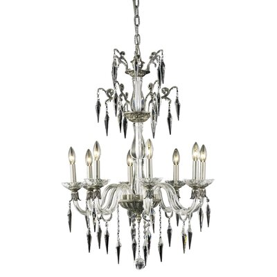 Shaina 8-Light Crystal Chandelier Finish: French Gold