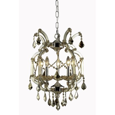 Regina 5-Light Royal Cut Crystal Chandelier