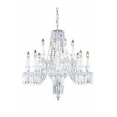 Leonardo 12-Light Chrome Crystal Chandelier