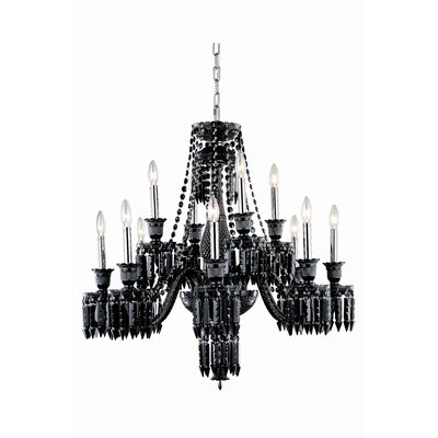Leonardo Traditional 12-Light Crystal Chandelier