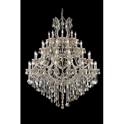 Regina 49-Light Swarovski Elements Crystal Chandelier Size: 60 H x 72 W x 72 D