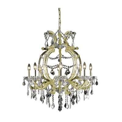 Regina 8-Light Crystal Chandelier Finish: Gold, Crystal Grade: Elegant Cut