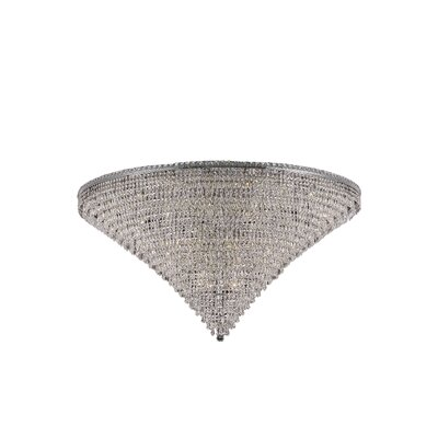 Fulham 48-Light Tapered Layers Crystal Flush Mount