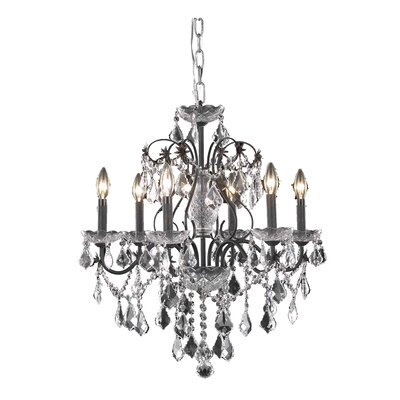 Thao 6-Light Metal Crystal Chandelier Crystal Grade: Spectra Swarovski