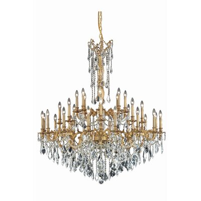 Utica 32-Light Crystal Chandelier Color: French Gold, Crystal Grade: Elegant Cut