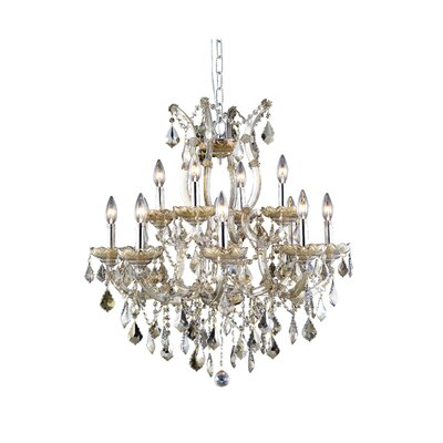 Regina 13-Light Swarovski Elements Crystal Chandelier
