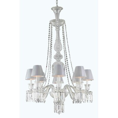 Majestic 8-Light Crystal Chandelier