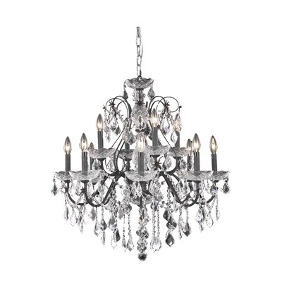 Thao Traditional 12-Light Crystal Chandelier Crystal Grade: Swarovski Element