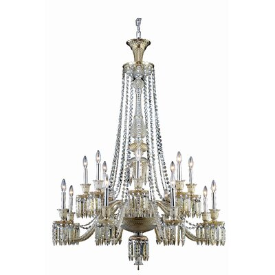 Leonardo 16-Light Metal Crystal Chandelier