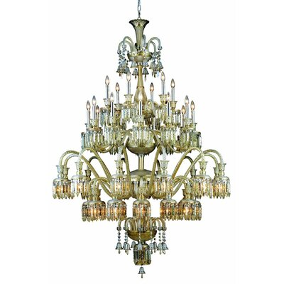 Leonardo Traditional 42-Light Chrome Crystal Chandelier