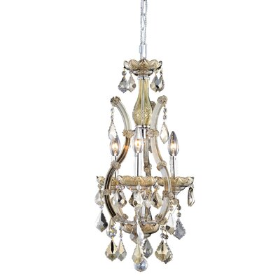 Regina Traditional 4-Light Crystal Chandelier